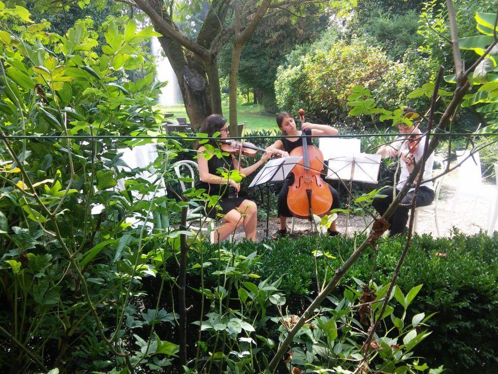 violin experience esibizione live in giardino di violino